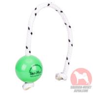 若犬や小型犬のおもちゃボール 緑 柔らかい 噛みやすい